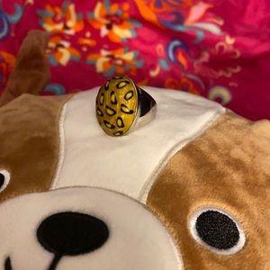 Beautiful Plunder Cheetah print ring